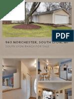 943 Norchester South Lyon MI | South Lyon Ranch Home