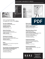 Duke University Press program ad for the Latin American Studies Association conference 2015