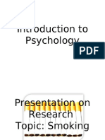 Introduction to Psychology Presentation