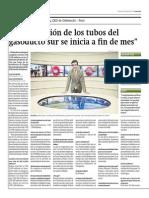 15-04-2015 - Gestión - Entrevista a Oderbretch - Instalacion de Gasoductos a Iniciar a Fin de Mes
