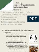 Tema 3, Sociologia