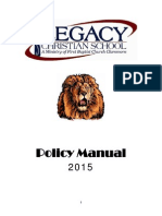 legacy board policy manual 2015