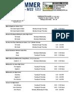 2015 Summer Schedule Cresskill