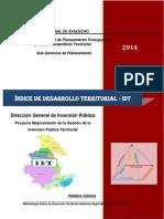 Índice de Desarrollo Territorial - GRA 2014