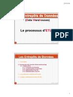 Le Processus ETL - Datawarehousing