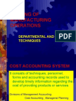 Costing of Manufacturing Operations