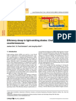 Efficiency droop in light-emitting diodes