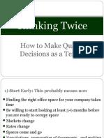 Thinking Twice - Presentation