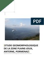 Etude géomorphologie de la zone Plaine-Joux, Anterne, Pormenaz