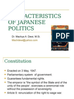CHARACTERISTICS OF JAPANESE POLITICS.ppt