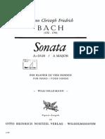 JC Bach's 4-hands sonata