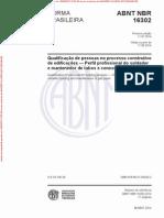 NBR16302 - Qualificação Soldador PE