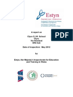Inspection Report Clyro C I W School Eng 2012 English Only