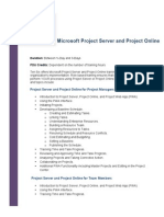 Microsoft Project Server and Project Online Course