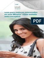 Mirena Brochure Spanish