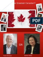 who is the greatest canadian exam powerpoint