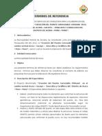 Terminos de Referencia Especialista en Subestructuras