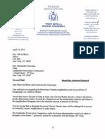 Sen Avella Letter to Landmark B-F