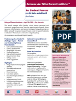 La Semana Parent Institute Flier 2015