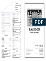 Kashmir Carryout Menu