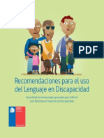Folleto Recomendaciones Uso Del Lenguaje en Discapacidad
