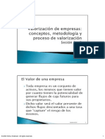 Sesion 2 y 3. Introduccion a La Valorizacion de Empresas
