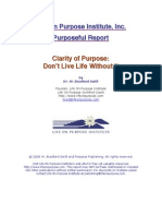 Clarity of Purpose Report
