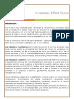 El debate sobre el customer effort score se inicio después del articulo de Harvard Bisuness Review  en 2010.docx