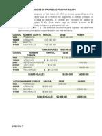 Ejercicio de Propiedades Planta y Equipo II SEMESTRE 2013