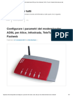 Configurare i Parametri Del Modem_router ADSL Per Alice, Infostrada, TeleTu, Tiscali o Fastweb _ Informatica Per Tutti