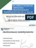 3 Normas de Habilitacion Prof. Independientes Res 2003