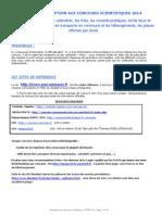 2014 Sciences Calendriers Conseils
