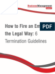 Termination Guidelines