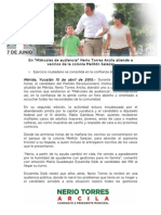 15-04-2015 En 'Miércoles de audiencia' Nerio Torres Arcila atiende a vecinos de la colonia Melitón Salazar