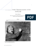 Introductory Programming With Matlab 4