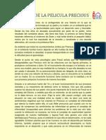 Analisis de La Pelicula Precious
