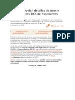 Estudios Revelan Detalles de Usos y Competencias TICs de Estudiantes Chilenos