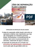 Separacao de Solidos e Liquidos Sedimentacao