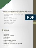 Estudo Da Viabilidade Econômica de Uma Farmácia Na Região de Toledo-PR