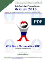 Pembahasan Soal OSN Guru Matematika SMP 2015 (m2suidhat.blogspot.com)