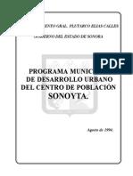 Programa de Desarrollo Urbano Del Centro de Poblacion de Sonoyta, Sonora