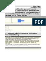 link training evaluation-week 3