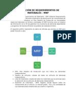 Planeacion de Requerimientos de Materiales MRP