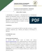 Edital Mestrado Matematica 2014