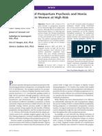 Prevention of Postpartum Psychosis