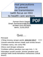 Universal Precautions Among Health Care Workers 2015