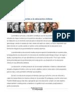 Aportes a La Educación Chilena