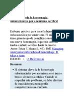 Tratamiento de La Hemorragia Subaracnoidea Por Aneurisma Cerebral