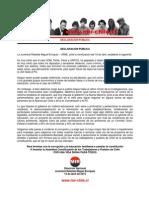 Declaración Pública - JRME - 15 Abril 2015