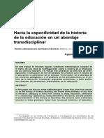 Aduriz Bravo Historia Educacion